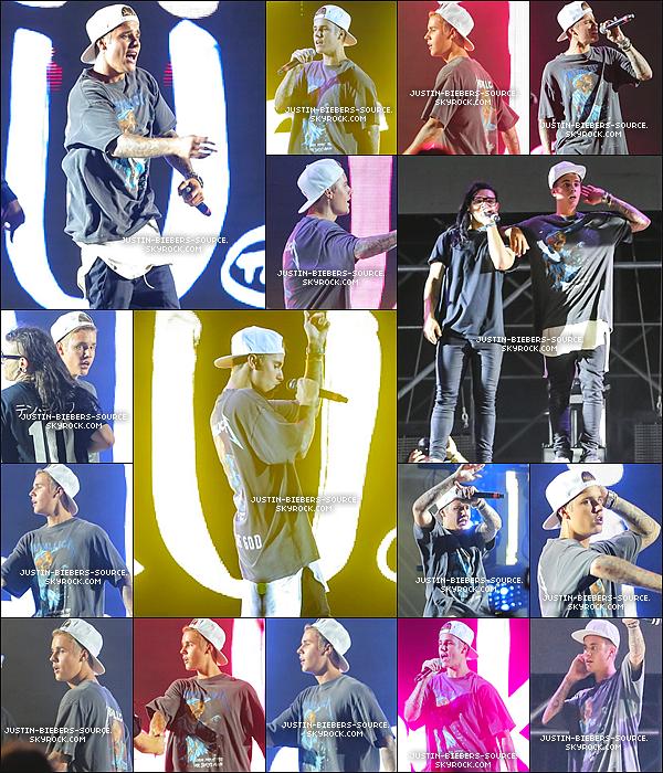 03/08/15 Août 2 : les nouvelles photos de Justin théâtral au Festival de Musique Dur D'été à Los Angeles, CA+Août 3 : Justin jouant les tambours à Hôtel de Hollywood W en Californie