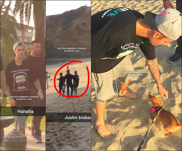 Le 6 août, Justin à été vu a la plage à Laguna Beach, en Californie. + Le 7 août, Justin à été revu  a la plage à Laguna Beach, en Californie.