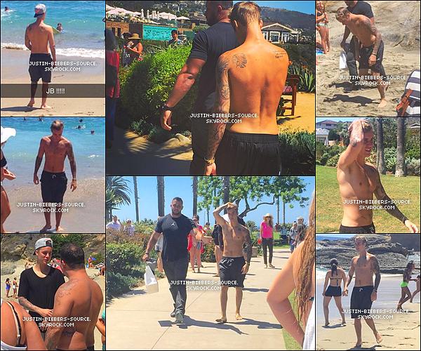 Août 8 : Justin a découvert la Plage de Laguna, la Californie. +Août 8 :  les photos prises de Justin à Plage de Laguna