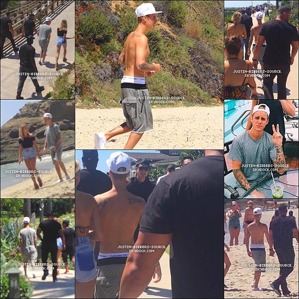 Le 10 août, Justin à été vu à Laguna Beach, en Californie.