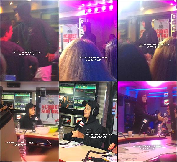 Le 16 septembre, Justin à été vu par des fans dans Paris, en France. + Le 16, Justin à réalisé une interview pour Europe 1 à Paris. + Toujours le 16, Justin à réalisé encore une interview pour Clique TV - Canal +, à Paris. + Le 16, Justin à été vu arrivant dans les studios de la radio NRJ à Paris, en France. + Pendant son passage à NRJ, Justin à réalisé un petit concert. + Toujours le 16, Justin était présent dans les studios de NRJ pour réalisé une interview à Paris. + Le 16, Justin à été vu quittant l'hôtel Royal Monceau à Paris, en France.