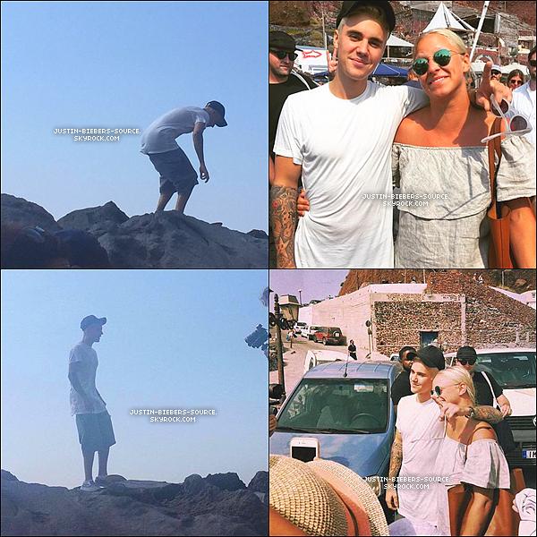Le 19 septembre, Justin à été vu par des fans dans Santorini, en Grèce. + Justin à poster de nouvelles photos sur Instagram.