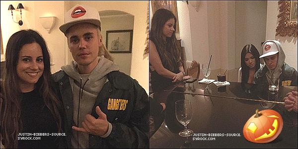 Le 13 octobre : Justin avec fans à l'Hôtel de Montage en Beverly Hills, CA.+@SB_Projects : *AMAs des nominations sont dans! Vote pour @JustinBieber