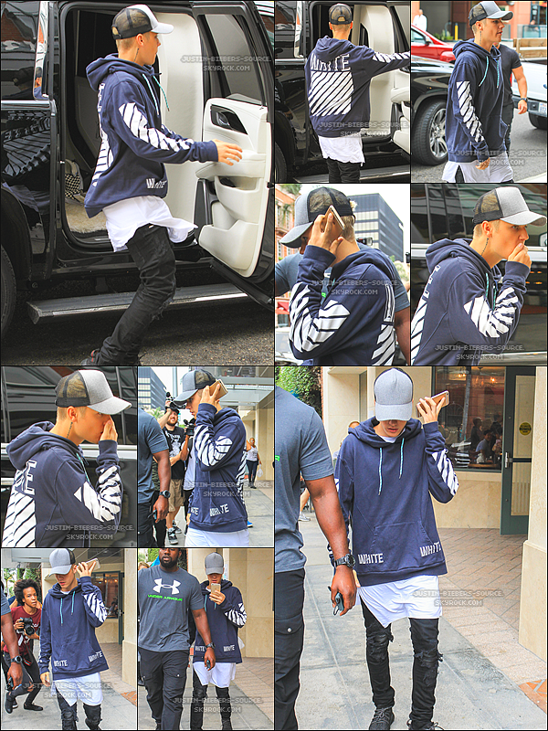 Le 16 octobre : planche à roulettes de Justin en Beverly Hills, la Californie.+Le 16 octobre: Justin à un cabinet médical dans Beverly Hills, CA.