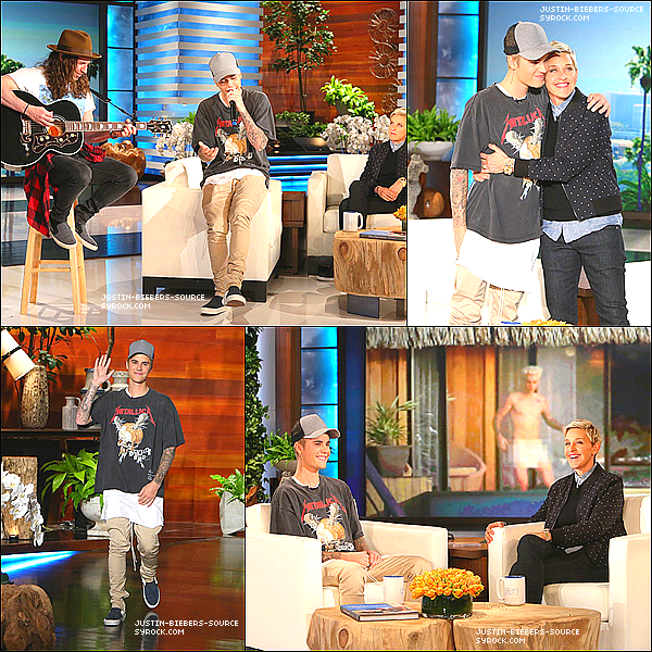 November 9: Justin on 'The Ellen Show' in Burbank, California.