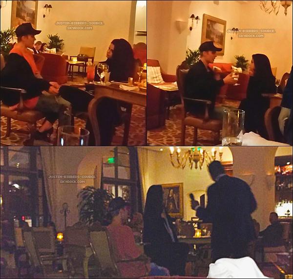 """Le 19 novembre, Justin à réalisé son concert pour la promo de son album """"An Evening With Justin Bieber"""" à Houston, au Texas. + Le 20 novembre, Justin et Selena Gomez ont été vu dans le Montage Beverly Hills Hotel, en Californie. Justin à chanter Sorry et My Girl à Selena et il a aussi pris le temps de prendre des photos avec des fans. + Le 20 novembre, Justin à été aperçu au restaurant """"The Nice Guy"""" à West Hollywood, en Californie."""