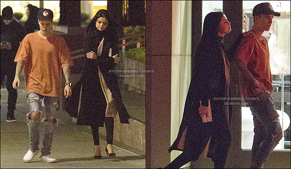 Le 20 novembre, Justin et Selena Gomez ont été vu dans Beverly Hills en Californie. + Le 21 novembre, Justin à été au Hyde Nightclub à Los Angeles, en Californie.