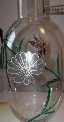 vase d coration sur verre. Black Bedroom Furniture Sets. Home Design Ideas