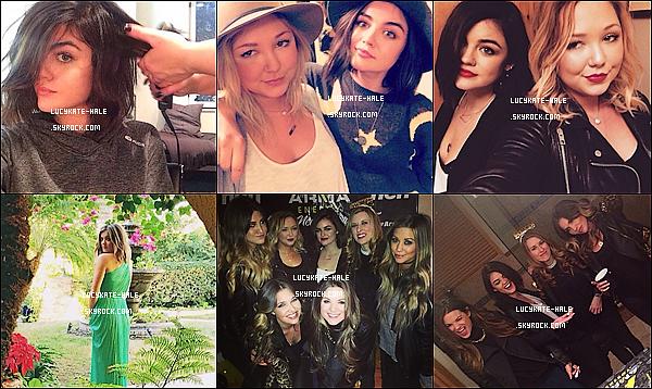 . Découvrez les captures du prochain épisode de Pretty Little Liars, «Through a Glass, Darkly».  Lucy Hale a posté quelques photos personnelles de ses séjours à Paris, Londres, Memphis, Big Bear Lake sur les réseaux sociaux. .