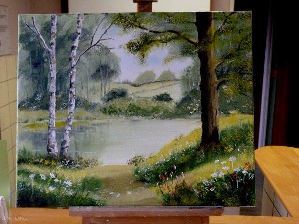 peinture  du jour ( en cours de réalisation )