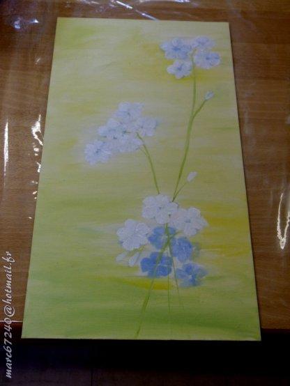 peinture  du jour...( des élèves en cours  )