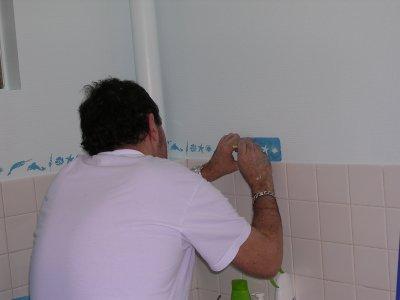 comment faire une salle de bain sympa en pochoir ? (voir photo ... - Pochoir Salle De Bain