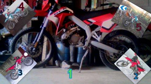 voila toute les etape de ma moto