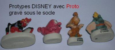 Prototypes Disney, gravés Proto sous le socle, celles que j'ai, je recherche les autres
