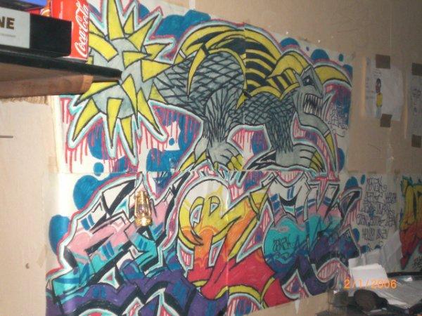 vieux graff chez un pote en 2008