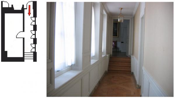 Second étage - Aile centrale - Appartement de la reine - 7 Couloir de liaison