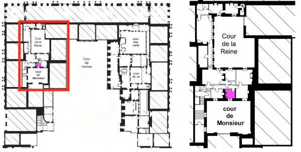 Second étage - Aile centrale - Appartement de la reine - 12 Pièce des femmes de chambre