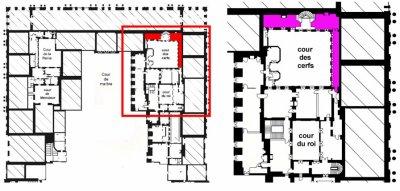 Second étage - Aile centrale - Appartement du roi.