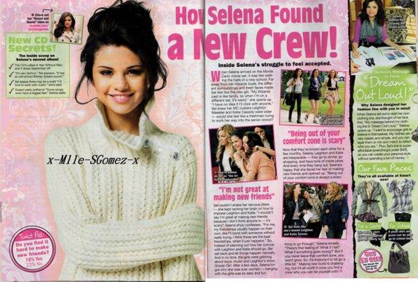 SCANS DU MAGAZINE  << TWIST >>    L'article parle du film Monte Carlo et son amitié avec Leighton et Katie et dispose d'un petit paragraphe  sur la ligne de vêtements de Selena Dream Out Loud