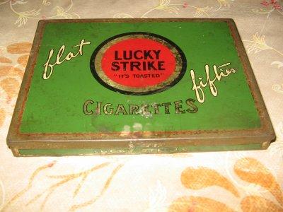 Boite cigarette lucky stike
