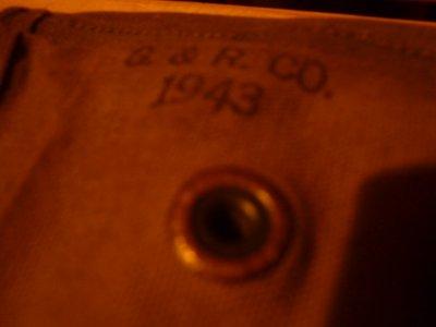 Cartouchière US pour carabine USM1, 1943
