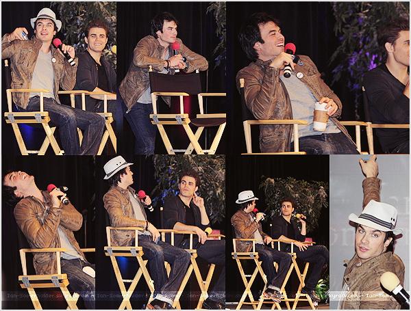 Ian et une partie du cast de TVD ont participé à la Chicago TVD Con qui se déroulait du 4 au 6 avril 2014. Paul Wesley faisait également parti du lot. Parallèlement se déroulait également la convention de la série The Originals.