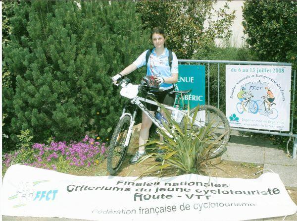 Lauriane au critérium national (juillet 2008)