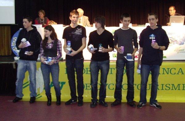 AG Ligue Ile-de-France FFCT (novembre 2008): Lauriane récompensée