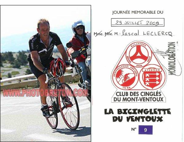 Bicinglette du Ventoux (juillet 2009)
