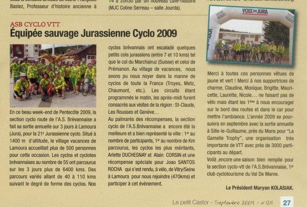 Lamoura (mai - juin 2009): le CR du Président