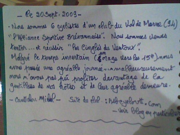 Cinglés du Ventoux (septembre 2009) 2/2