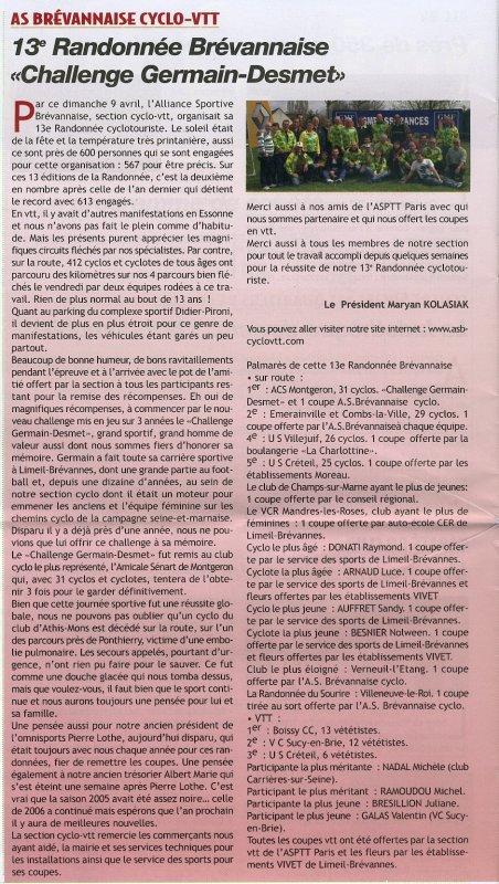 13e Randonnée Brévannaise (Avril 2006)