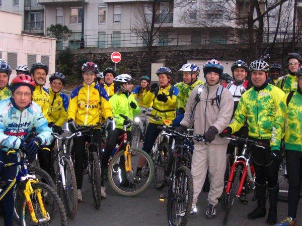 Sortie VTT à Paris (janvier 2006), par Claude