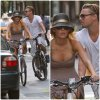 Candids: Blake et Leonardo à vélo à New-York