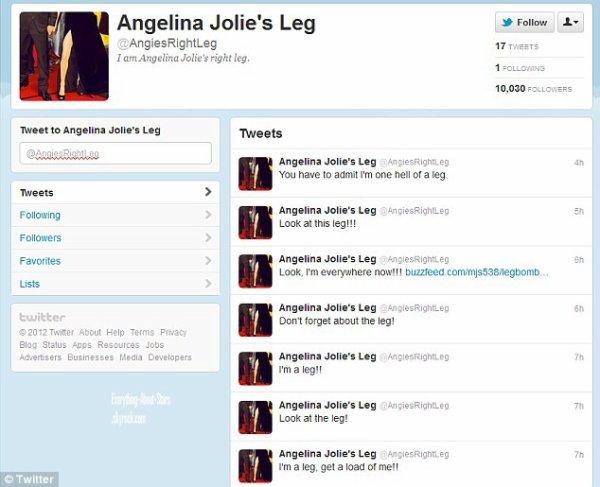 Angelina Jolie a crée le buzz lors des Oscars 2012 sur Twitter + La boulette de Sacha Baron Cohen le dictateur