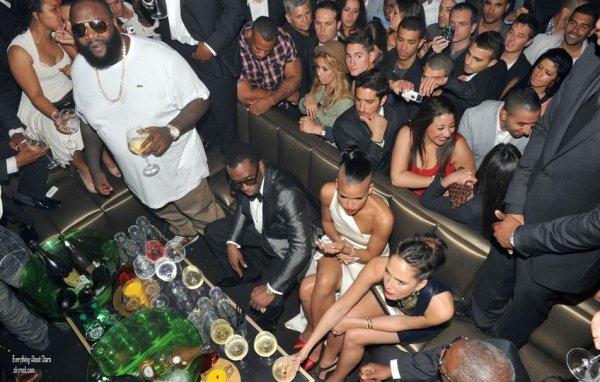"""Cassie, P-Diddy et Rick Ross étaient au club le """"Gotha"""" à Cannes  le 22 Mai 2012"""