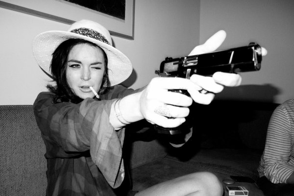 Lindsay Lohan pose pour le photographe Terry Richardson