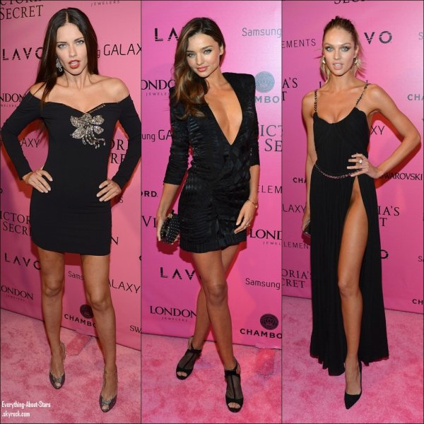Adriana Lima, Miranda Kerr, Candice Swanepoel, Lily Adrige, Alessandra Ambrosio, Erin Heatherton, Lindsay Ellingson, Izabel Goulart, Vanessa Hugens et Rihanna été toutes à l'after party de Victoria's Secret Fashion Show 2012 à New York.  le 9 Novembre 2012