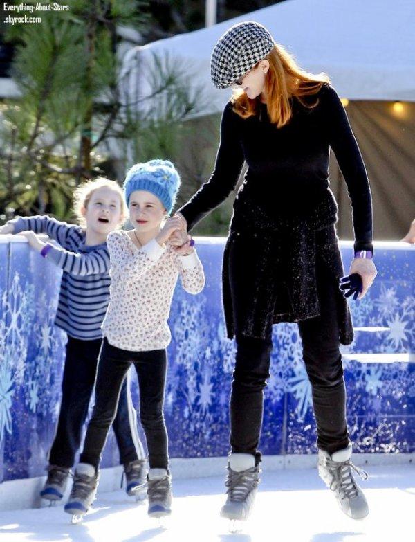 Marcia Cross aperçue en train de faire de la patinoire avec sa fille à Santa Monica.  le 21  Décembre 2012