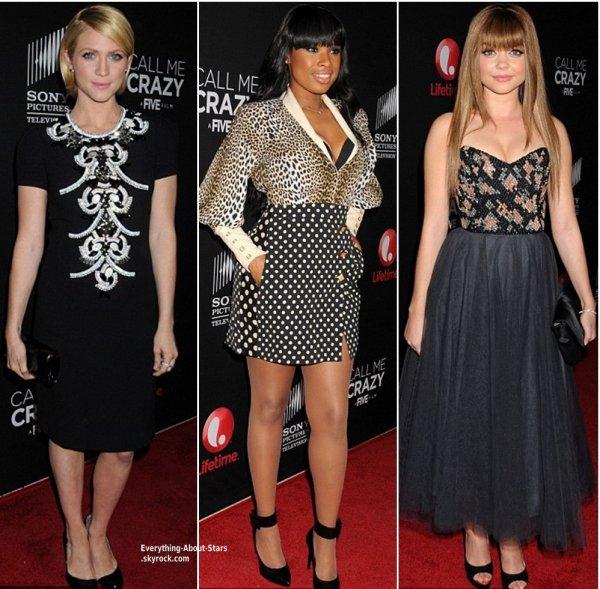 """Jennifer Aniston, Sarah Hyland, Jennifer Hudson et Britanny Snow lors de la première de """"Call Me Crazy: A Five Film"""" à Los Angeles   Le 16 Avril 2013"""