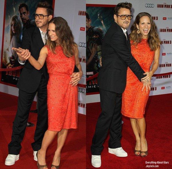 Gwyneth Paltrow, Robert Downey Jr, Susan Downey, Bella Thorne, Olivia Holt et Chelsea Kane se sont rendus à la première de Iron Man 3 au théatre El Capitan à Hollywood     Le 24 Avril 2013