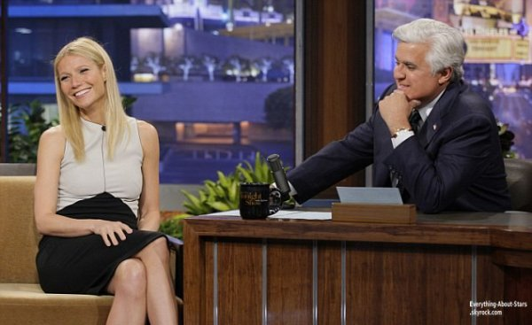 Gwyneth Paltrow à fait une apparition à l'émission  The Tonight Show de Jay Leno   Le 25 Avril 2013
