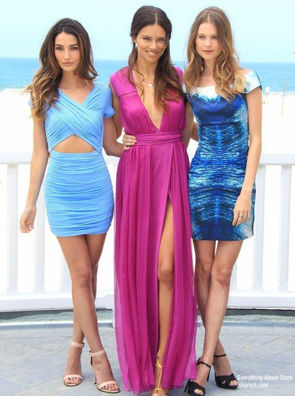 """Adriana Lima, Lily Aldridge et Behati Prinsloo ont fait une apparition hier à Santa Monica, pour présenter la fameuse liste """"What is sexy ?""""   Le 14 Mai 2013"""