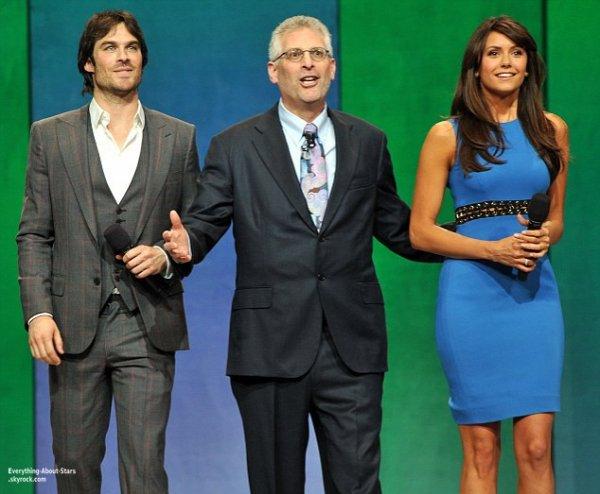 Ian Somerhalder, Nina Dobrev, Joseph Morgan, Jaime King, Annasophia Robb et Kristin Kreuk lors de la soirée annuelle organisée par la CW pour présenter ses programmes de l'année prochaine   Le 16 Mai2013