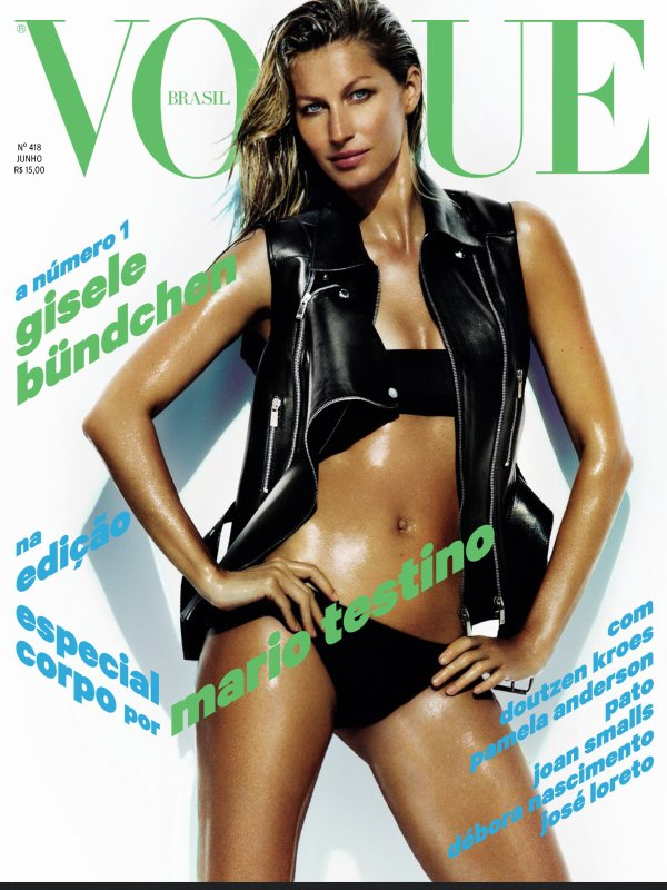 Gisele Bundchen en couverture de Vogue