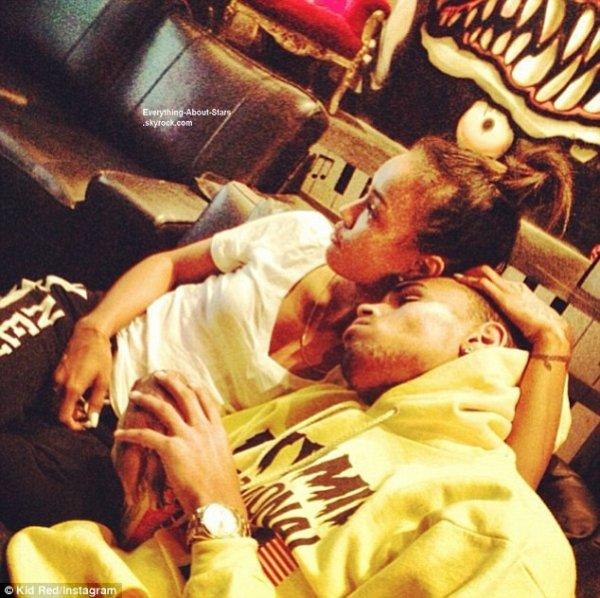 Chris Brown et Karrueche Tran, moment câlin en photo