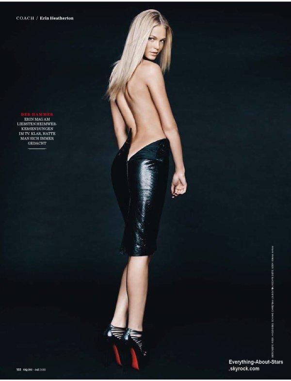 Erin Heatherton pose pour le magazine GQ