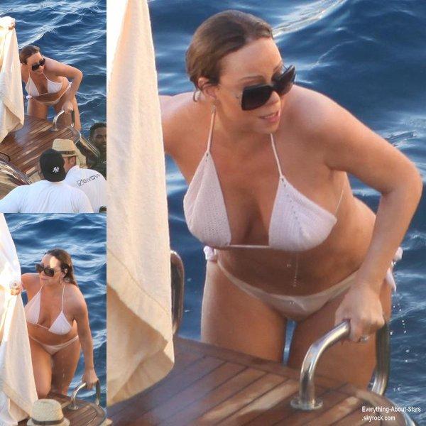 Mariah Carey aperçue en train de prendre du bon temps sur un bateau en Italie  Le 17  juin  2013