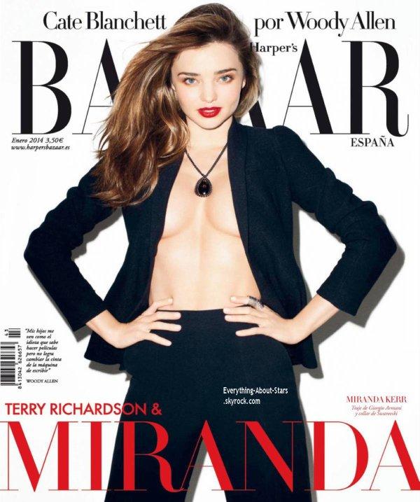 Miranda Kerr en couverture de Harper's Bazaar