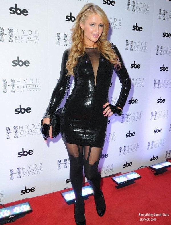 Paris Hilton aperçue se rendant à une fête pour le nouvel an au Bellagio Hotel & Casino à Las Vegas  Le 31 Décembre 2013